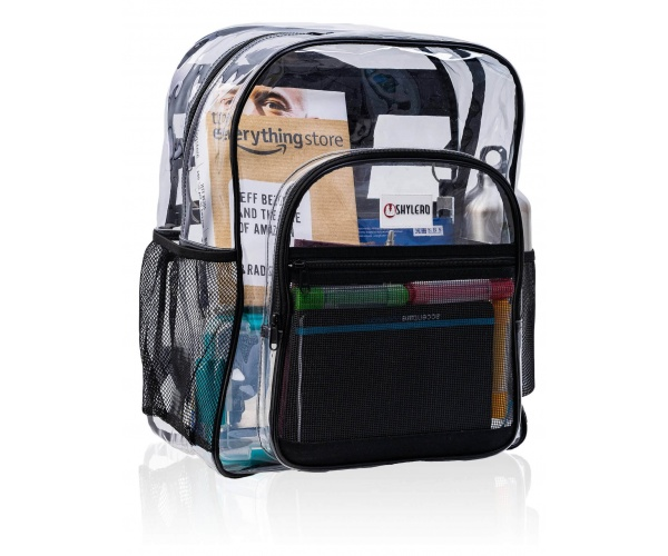 "Clear Backpack For School XL | H18''xW14''xD8"" (H45xW35xD20 cm) 