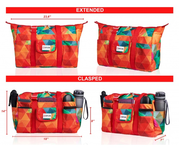 "Utility Tote and Nurse Bag | Waterproof (IP64) | L18""xH7""x W14"" (46x18x36cm) 