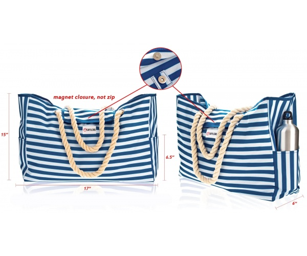 "Beach Bag XL| Waterproof (IP64)| L17""xH15""x W6"" (43x38x15cm) 